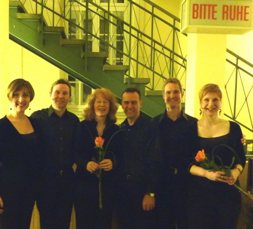 L-R:  Micaela Haslam, Andrew Busher (Sian Edwards - conductor),Gerard O'Beirne, Phillip Brown, Amanda Morrison